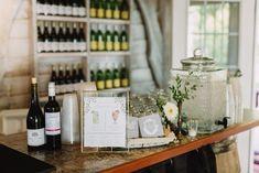 Blue Gray Koozie, Wedding Koozie, Bar Setup, Bar signage, wedding signage, gold frame