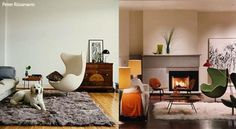 Comprehensive summary of the history, design and usage of modern classic chairs with images prices and info on where to get them. One of the most elaborative articles on mid century modern designs. Ikea Chair, Egg Chair, Swivel Chair, Classic Furniture, Contemporary Furniture, Chair Design, Furniture Design, Chair Price, Condo Living
