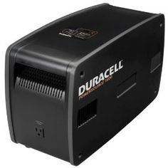 The Duracell 1800-watt inverter has five 115V AC power outlets for operating multiple devices simultaneously. Built-in transfer relay provides reliable backup power capability. Digital LED display indicates battery capacity status and total wattage of the devices connected to the PowerSource. Sealed, non-spillable 60Ah AGM battery Recharges from home AC wall outlet.