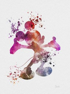 Mickey Mouse ART PRINT 10 x 8 illustration Disney by SubjectArt, $12.99