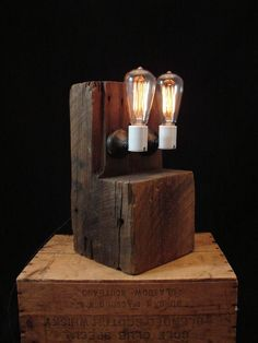 To date, I have created nearly one-thousand lamps and lighting fixtures. Each one has been in my h. Cool Lighting, Lighting Design, I Like Lamp, Steampunk Lamp, Chandelier Lamp, How To Antique Wood, Diy Woodworking, Wood Art, Light Fixtures