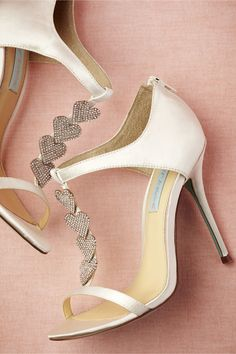 """Dancing Heart Shoes from BHLDN (Blue by Betsey Johnson). A light blue sole is your """"something blue!"""""""