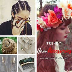 I'm obsessed with these 10 trendy hair accessories. They are out of the ordinary hair accessories, like hair rings, reverse flower crowns and more! Hair Rings, Flower Crowns, Trendy Hairstyles, The Ordinary, Summer Outfits, Hair Accessories, How To Wear, Fashion, Moda