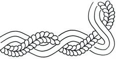 Cable & Feather inch Border Stencil - 000030130357 Quilt in a Day / Stencils Machine Quilting Patterns, Quilting Templates, Quilting Ideas, Quilting Designs, Quilt Patterns, Embroidery Stitches, Machine Embroidery, Grad Hat, Animal Skeletons
