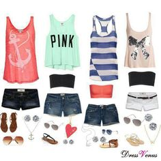 Head-turning Casual Outfit Ideas for Teenage Girls 2017 - Is there anyone who does not like the casual style? Of course not and it is almost impossible to find someone who says yes. Casual outfits are easy to. Summer Outfits For Teens, Spring Outfits, Girl Outfits, Casual Outfits, Fashion Outfits, Summer Clothes, Grunge Outfits, Summer Dresses, Easy Outfits