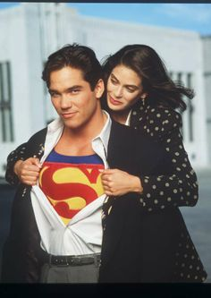 dean cain and teri hatcher | Superman on TV included Dean Cain, here with costar Teri Hatcher ..