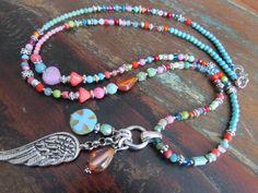 Fetzige Bettelkette *  silber * Böhmische Perlen von Perlenzimmer auf DaWanda.com