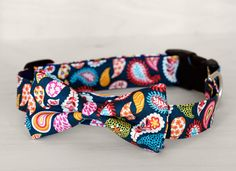 Paisley+Dog+Bow+Tie+Collar+by+TheRoverBoutique+on+Etsy,+$40.00