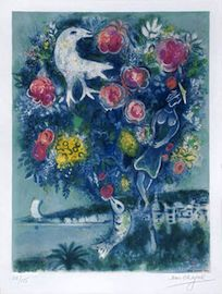 Chagall painted in the style of Magical Realism.  See my blog post for link to writing.  http://writinglikeadancer.com/?p=91