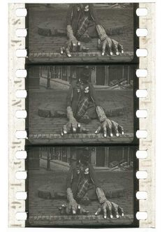 """""""Nitrate film frame clippings from the Turconi Collection : Söffel und die Straßenlaterne (original French title unidentified, Pathé Frères, 1910)"""""""