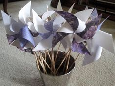 Our Day (In the Making): DIY Pinwheels!