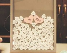 This DIY Wedding Guest Book Frame with hearts - project is a winner. Transforms a guest book into wall art, that's actually seen by the couple . Garden Party Wedding, Wedding Table, Diy Wedding, Rustic Wedding, Wedding Book, Trendy Wedding, Wedding Bells, Dream Wedding, Wedding Ideas