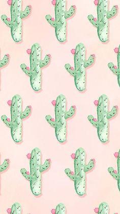 pattern   cactus watercolor