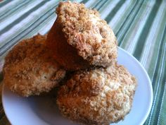 Coffee Cake Muffins, adapted from 1960's Fredericksburg, TX German Coffee Cake recipe. These are GOOD!