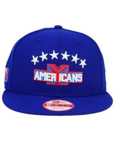 online retailer b63f5 5e8b4 New Era New York Americans All Day 9FIFTY Snapback Cap - Blue Adjustable