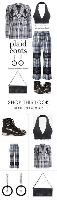 """""""Embellished Plaid Blazer'"""" by dianefantasy ❤ liked on Polyvore featuring Alexander McQueen, polyvorecommunity, polyvoreeditorial and plaidcoats"""