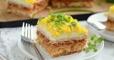 Sałatkowe ciasto Lasagna, Quiche, French Toast, Cheesecake, Fish, Cooking, Breakfast, Ethnic Recipes, Desserts