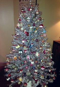 my grandmothers aluminum christmas tree retro christmas tree christmas tunes silver christmas tree - Aluminium Christmas Tree