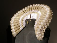 Elizabethan  Open  Ruff  and Cuffs Custom Order  for  Catherine