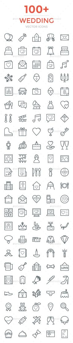 100+ Wedding Vector Icons