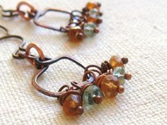 Beaded Wire Earrings by TamiLopezDesigns on Etsy, $22.00