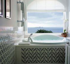excelente vista desde la bañera