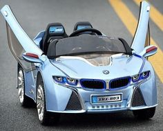 2016 New BMW i8 style Ride On Car For Kids with RC   Blue color - GarageN1 - 1