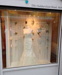 Wedding dress shop window @ Alison Jane Bridal - Mirfield. Jan 2104