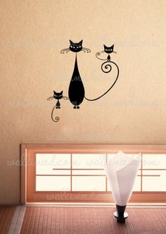 Three Cats Wall Decal