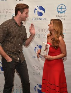 Armie Hammer and author Dr. Nigma Talib attend the 'Younger Skin Starts In The Gut' book launch party