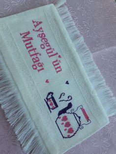 Bb, Towel, Cross Stitch Embroidery, Cross Stitch Kitchen, Crochet Ornaments, Rage