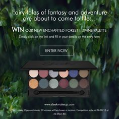 WIN our brand new Enchanted Forest Palettes by entering our competition. 10 winners will be chosen at random. T&Cs apply. Open worldwide. Ends Tuesday 4th August 2015 at 23:59pm BST.