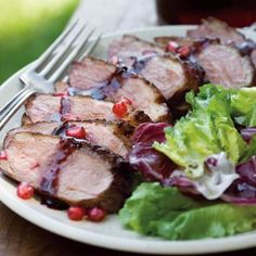 Steak & pomegranate reduction? Yes please