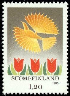 Joulupostimerkki 1985 2/2 - Lintukoriste