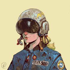 Wasteland explorer by Fernando Correa Character Creation, Character Concept, Character Art, Concept Art, Art Fallout, New Retro Wave, Arte Cyberpunk, Retro Futuristic, Science Fiction Art