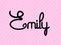 Emily. Name No. 6 of the Top 10 names for baby girls in Canada (click through for the rest!)