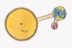 Rotation and Revolution Model: Sun, Earth and Moon by Science Doodles