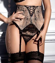 AXAMI-Garter-belt-Thong-Marigold-V-4802-V-4808-lace-suspender-size-S-M-L-XL