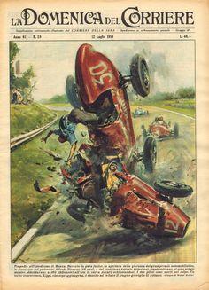 Tragedia all'autodromo di Monza. Durante la gara Junior, in apertura della giornata del gran premio automobilistico, le macchine del padovano Alfredo Tinazzo, 39 anni, e del veneziano Antonio Crivellari, trentasettenne, si sono urtate mentre abbordavano a 160 chilometri all'ora la curva di Ascari, schiantandosi. I due piloti sono morti sul colpo. Un terzo concorrente, Lippi, che sopraggiungeva, è riuscito ad evitare il tragico groviglio di rottami.