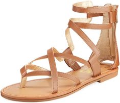71ec6c48a CIRCUS BY SAM EDELMAN Bevin Flat Strappy Sandals! Back zip eases dress.