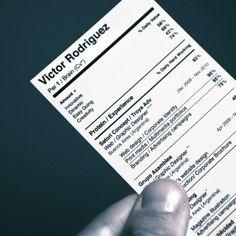 curriculum vitae resume design - Resume Business Cards