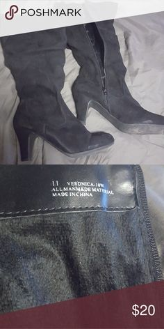 Knee high boots Worn once not 4 me Shoes Heeled Boots