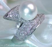 Schwerer Südseeperle Brillanten Ring image