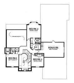 Traditional House Plan Second Floor - 030D-0170   House Plans and More