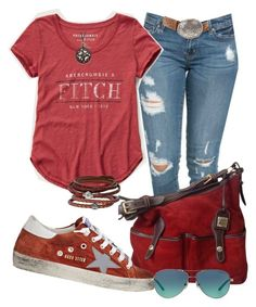 """""""Casual"""" by alice-fortuna ❤ liked on Polyvore featuring Dooney & Bourke, Golden Goose, Abercrombie & Fitch, Tiffany & Co., Overland Sheepskin Co., Phillip Gavriel and NOVICA"""