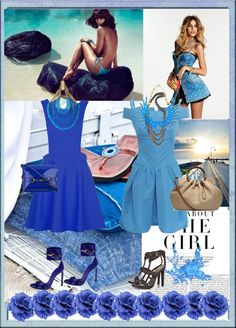 """""""Blue wives"""" by elenikastro ❤ liked on Polyvore"""