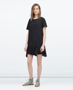 EYELET GATHERED PRINTED DRESS-Dresses-WOMAN-SALE | ZARA United States