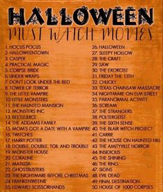 Halloween movie guide