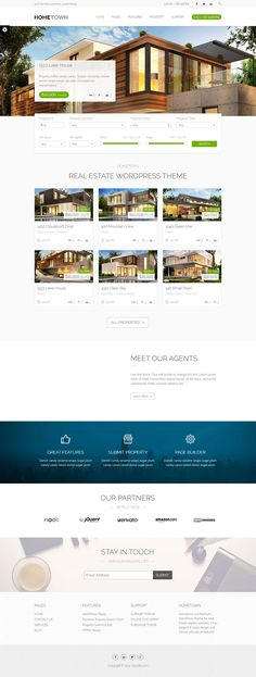 This real estate WordPress theme comes with easy IDX integration, a ...