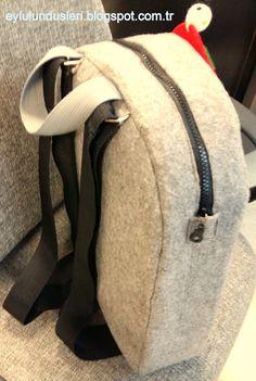 Keçe sırt çantası Kids Bags, Diy And Crafts, Bargello, Backpacks, Fashion, Personalized Backpack, Feltro, Craft, Ideas